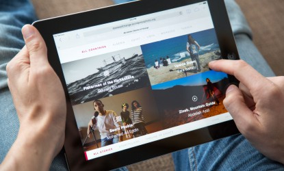 Tablet view of Stories of Change - Vignette Interactive