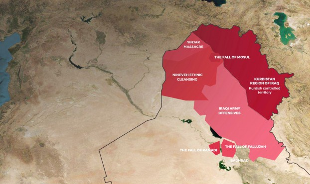 Background map of Iraq