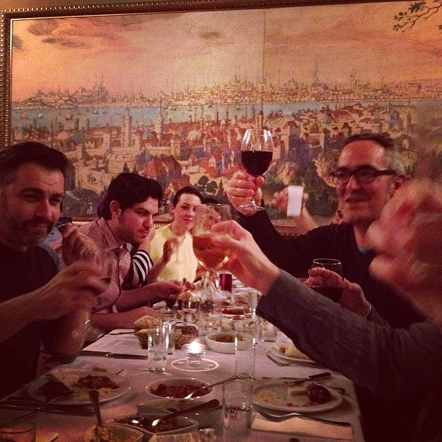 Last dinner for World Press Reporting Change Workshop. Cheers from #Istanbul! #WPPh_RC photo by @taratwphoto