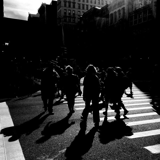 Late afternoon light in front of the #flatiron building in #NYC is hard to beat. #light #shadows #lateafternoon #bw #blackandwhite #bandw #contrastbyhornbeck #latergram - photo by @taratwphoto Tara Todras-Whitehill