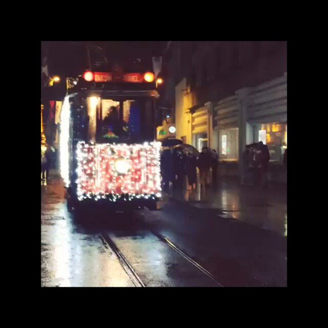 Getting almost run over by a big moving #Christmas tree #trolley on Istiklal. #Istanbul #xmas #Turkey #Istiklal video by @taratwphoto Tara Todras-Whitehill #instlater #instagood #holidays